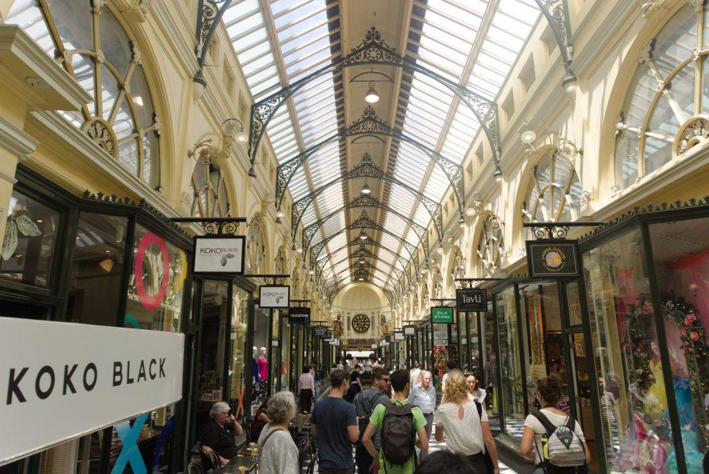 Melbourne winkelstraat
